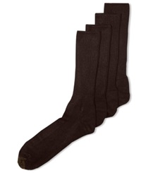 Gold Toe Men's Socks Adc Acrylic Fluffies 3 Pack Crew Casual Socks 1 Pair Brown