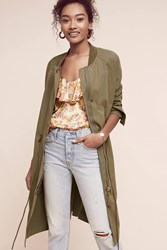Anthropologie Emmaline Long Anorak Moss