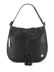 Vince Camuto Textured Leather Hobo Black