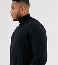 New Look Plus Roll Neck Jumper In Black