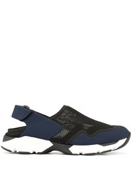 Marni Colour Block Heelless Sneakers Blue