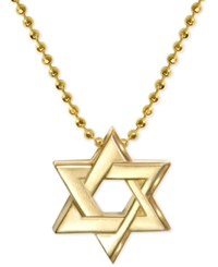 Alex Woo Star Of David Beaded Pendant Necklace In 14K Gold Yellow Gold