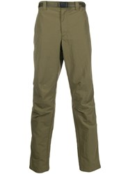 Rag And Bone Belted Straight Leg Trousers Green