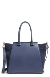 Sole Society 'Jeanine' Satchel Blue Midnight