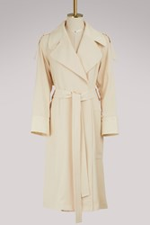 See By Chloe Long Trench Coat Angora Beige