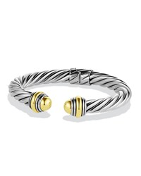 Cable Classics Bracelet With Gold Domes David Yurman Silver Gold
