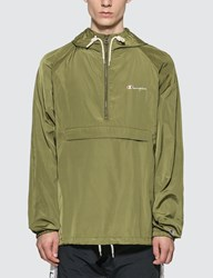 Champion Reverse Weave Hooded Anorak Jacket Green