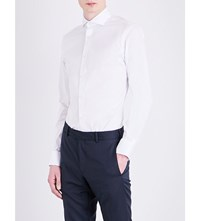 Tiger Of Sweden Farrell Slim Fit Cotton Blend Shirt Pure White