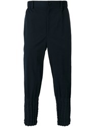 Issey Miyake Men Wrinkled Effect Trousers Blue