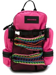 Dsquared2 Rope Detail Backpack Pink And Purple