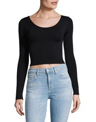 Design Lab Lord And Taylor Velvet Crop Top White