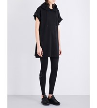 Y 3 Future Craft Hooded Cotton Jersey Dress Black