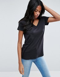 Asos The Ultimate V Neck Slouchy T Shirt Black