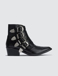 Toga Pulla Buckle Ankle Boots Black