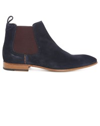 Paul Smith Shoes Navy Falconer Suede Chelsea Boots Blue