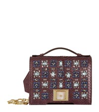 Andrew Gn Mini Brief Embellished Cross Body Bag Purple