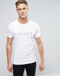 Sisley Crew Neck T Shirt With Embroidery White 101