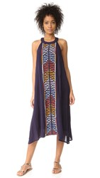 Piper Embroidered Dress Navy