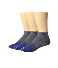 Drymax Sport Thin Run Mini Crew 3 Pair Pack Royale Anthracite Crew Cut Socks Shoes Gray