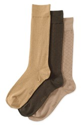 Polo Ralph Lauren Men's Dress Socks Khaki Grey Taupe Dark Brown