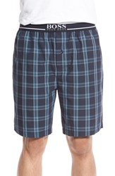 Men's Boss 'Urban' Plaid Lounge Shorts