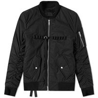 Unravel Project Military Bomber Jacket Black