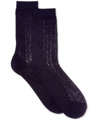 Polo Ralph Lauren Women's Vertical Openwork Trouser Socks Navy