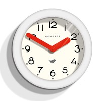 Newgate Clocks Pantry Clock Pebble White