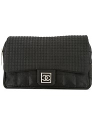 Chanel Vintage Square Square Quilted Backpack Black
