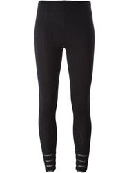 Issey Miyake Pleats Please By Ribbed Leggings Black