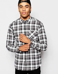 New Look Check Shirt With Long Sleeves Offwhite