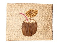 Hat Attack Whimsical Clutch Coconut Clutch Handbags Beige