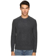 Vince Boiled Cashmere Crew Neck Sweater Heather Carbon
