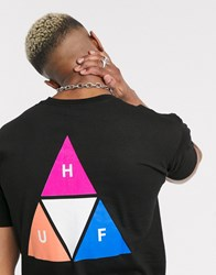 Huf Prism Triple Triangle T Shirt In Black
