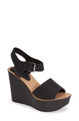 Topshop Platform Wedge Sandal Women Black