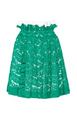N 21 No. Glory Top Ruffle Lace Skirt Green