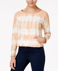 American Rag Cropped Tie Dyed Sweatshirt Only At Macy's Dusty Coral