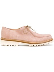 34cb490bb6f Unutzer Lace Up Detail Loafers Leather Rubber 37.5 Pink Purple