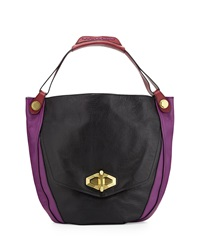 Oryany Julia Colorblock Hobo Bag Black Multi