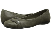 Trotters Sizzle Loden Patent Suede Lizard Leather Women's Dress Flat Shoes Black