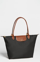 Longchamp 'Large Le Pliage' Tote Black
