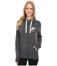 Nike Gym Vintage Full Zip Hoodie Anthracite Sail Women's Sweatshirt Black
