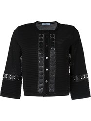 Blumarine Embroidered Detail Cardigan Black