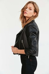Bdg Shrunken Vegan Moto Jacket Black