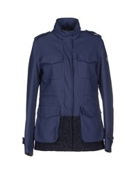 Swiss Chriss Coats And Jackets Jackets Women Slate Blue