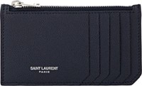 Saint Laurent Men's Zip Pouch Navy