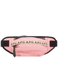 A.P.C. Tape Logo Waist Bag Pink