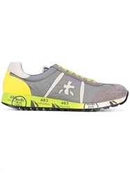 Premiata White Lucy Var Sneakers Men Leather Suede Polyamide Rubber 40 Grey