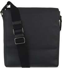 Mulberry Maxwell Slim Grained Leather Messenger Black