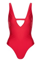 Wolf And Whistle Fuller Bust Swimsuit By Red